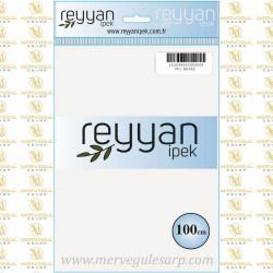 001 Reyyan İpek (BEYAZ) 100 cm Düz Kokulu Poşetli Yazma
