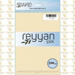 002 Reyyan İpek (KREM) 100 cm Düz Kokulu Poşetli Yazma
