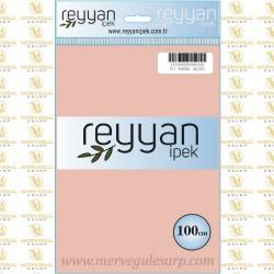 011 Reyyan İpek (PUDRA) 100 cm Düz Kokulu Poşetli Yazma