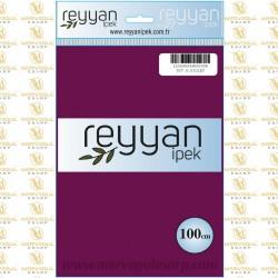 027 Reyyan İpek (K.VİOLET) 100 cm Düz Kokulu Poşetli Yazma