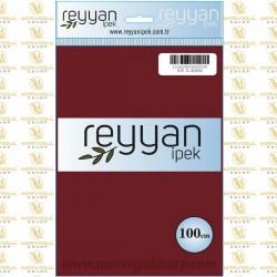 038 Reyyan İpek (K.BORDO) 100 cm Düz Kokulu Poşetli Yazma