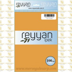 039 Reyyan İpek (K.SARI) 100 cm Düz Kokulu Poşetli Yazma