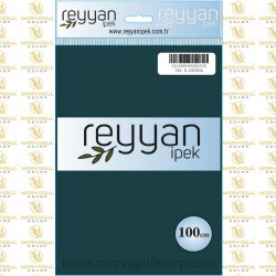 062 Reyyan İpek (K.PETROL) 100 cm Düz Kokulu Poşetli Yazma