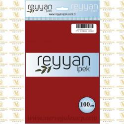 075 Reyyan İpek (KIRMIZI KOYU) 100 cm Düz Kokulu Poşetli Yazma